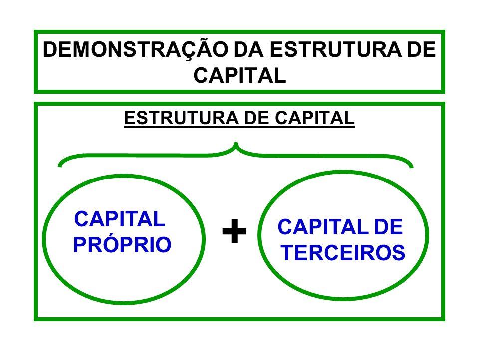 DEMONSTRAÇÃO DA ESTRUTURA DE CAPITAL