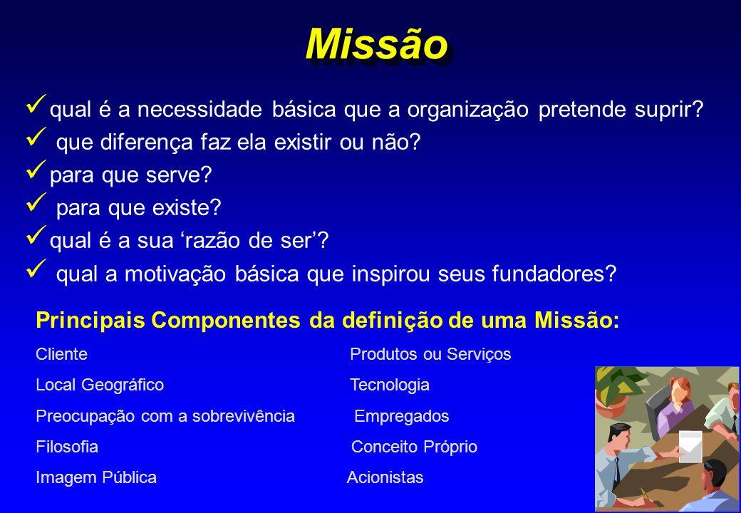 Missão qual é a necessidade básica que a organização pretende suprir