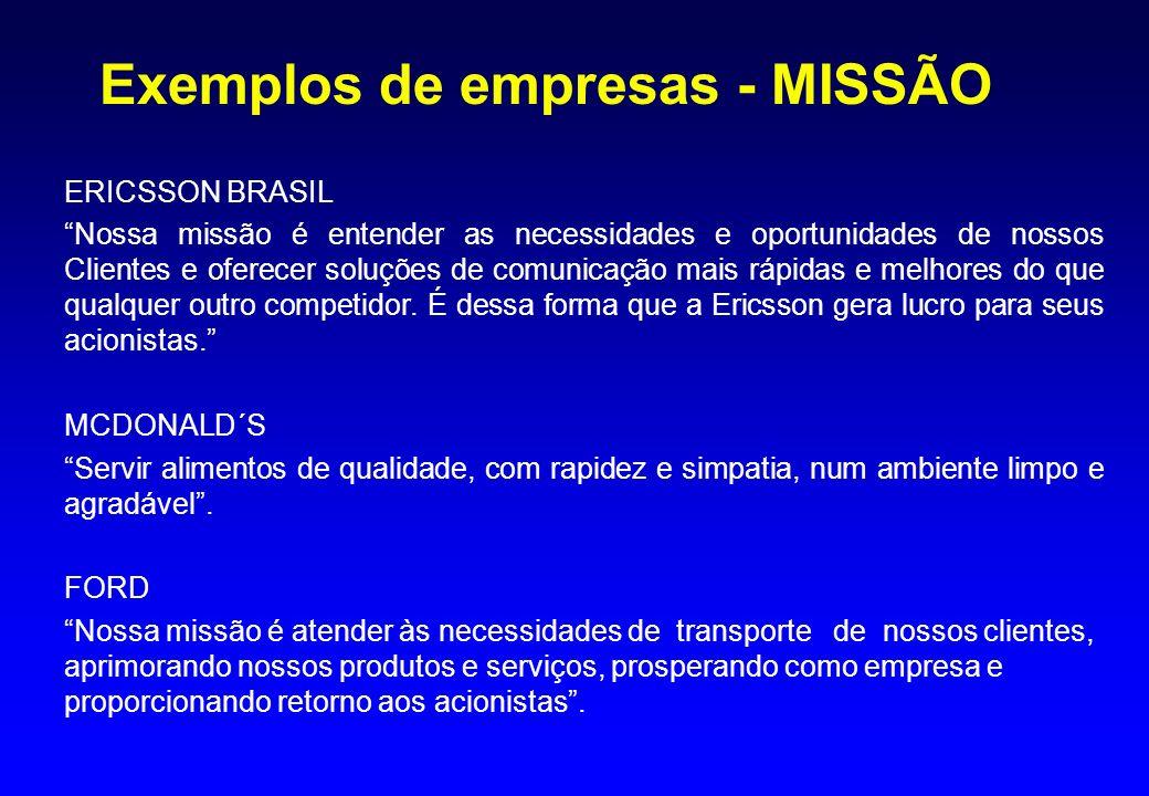 Exemplos de empresas - MISSÃO
