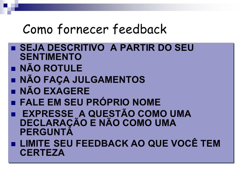 Como fornecer feedback