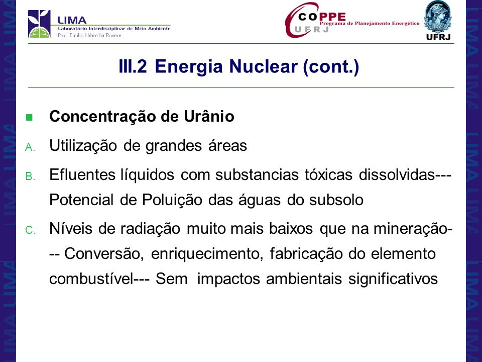 III.2 Energia Nuclear (cont.)
