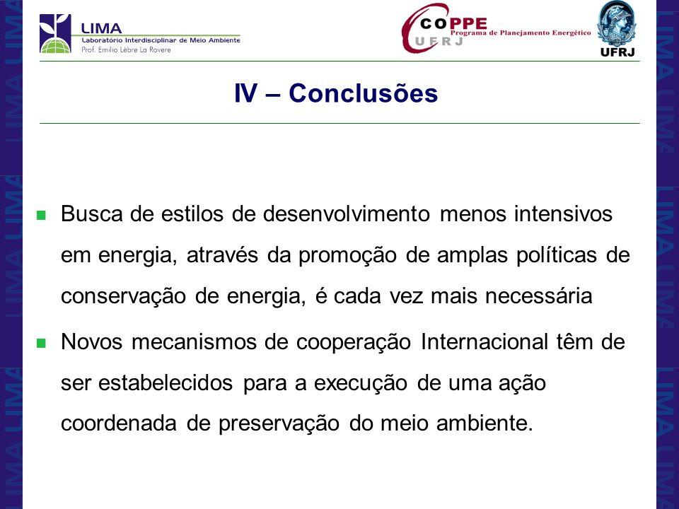 IV – Conclusões