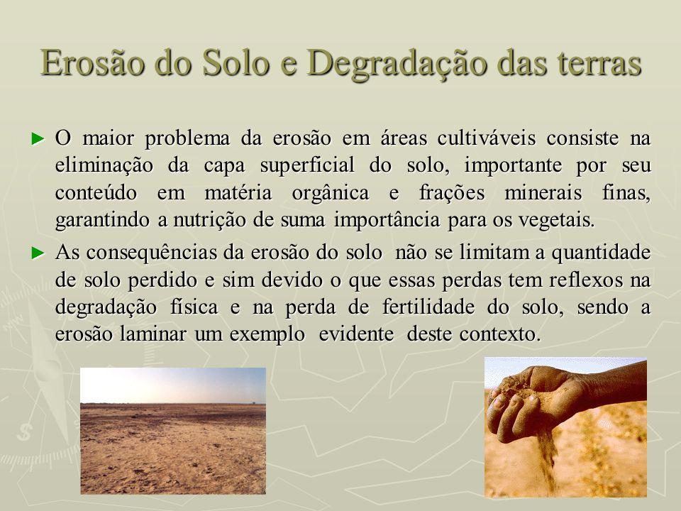 Erosão do Solo e Degradação das terras