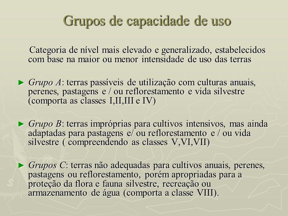 Grupos de capacidade de uso