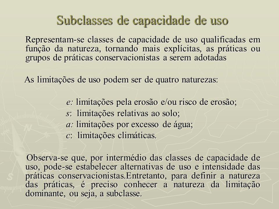 Subclasses de capacidade de uso