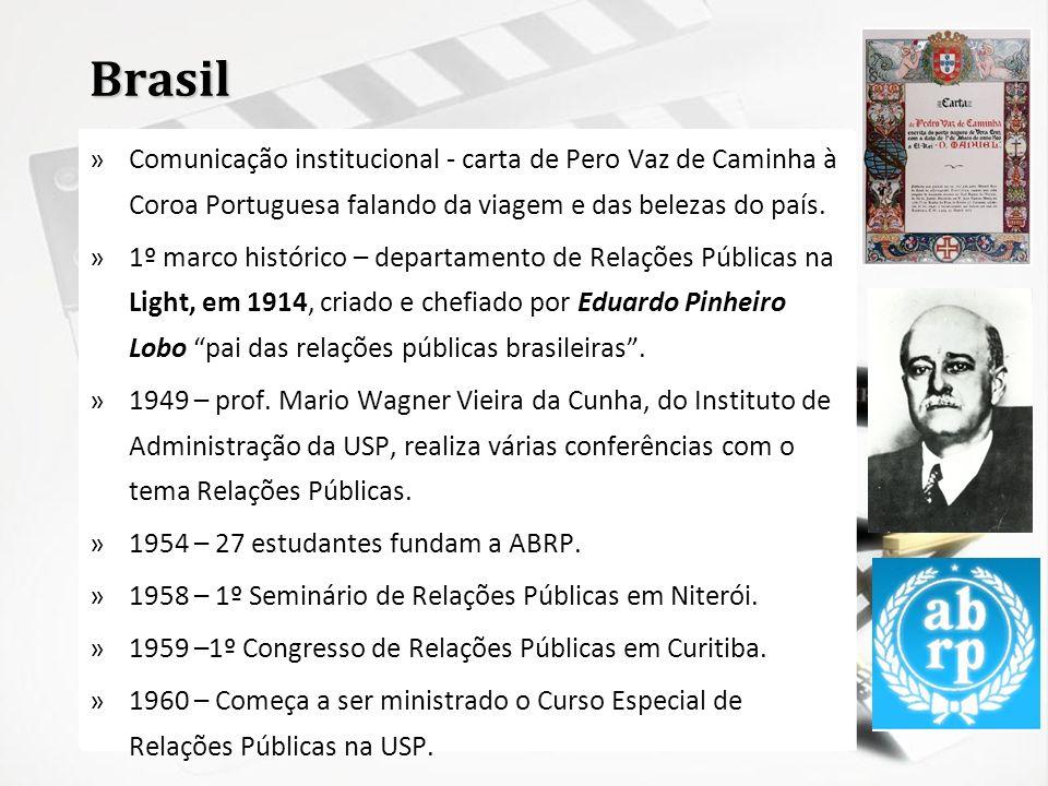 BrasilComunicação institucional - carta de Pero Vaz de Caminha à Coroa Portuguesa falando da viagem e das belezas do país.
