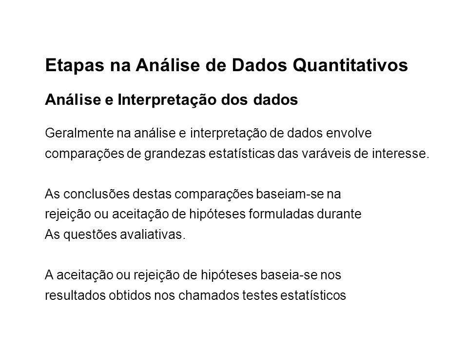 Etapas na Análise de Dados Quantitativos