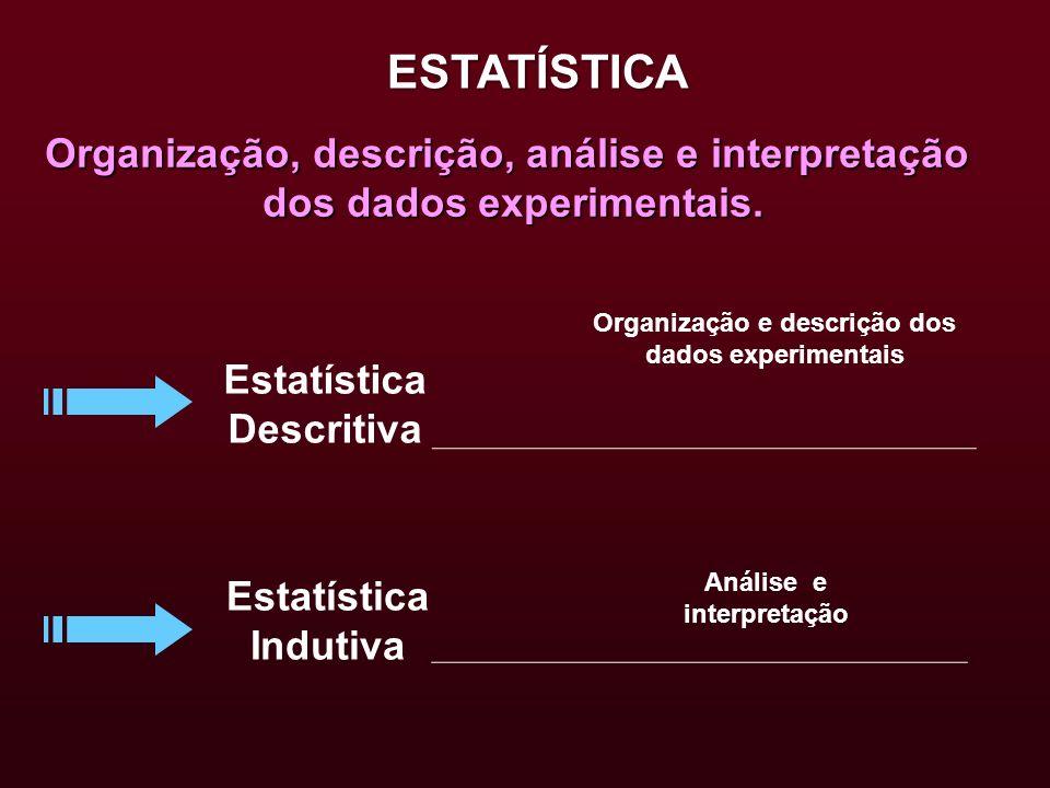 ESTATÍSTICA Organização, descrição, análise e interpretação