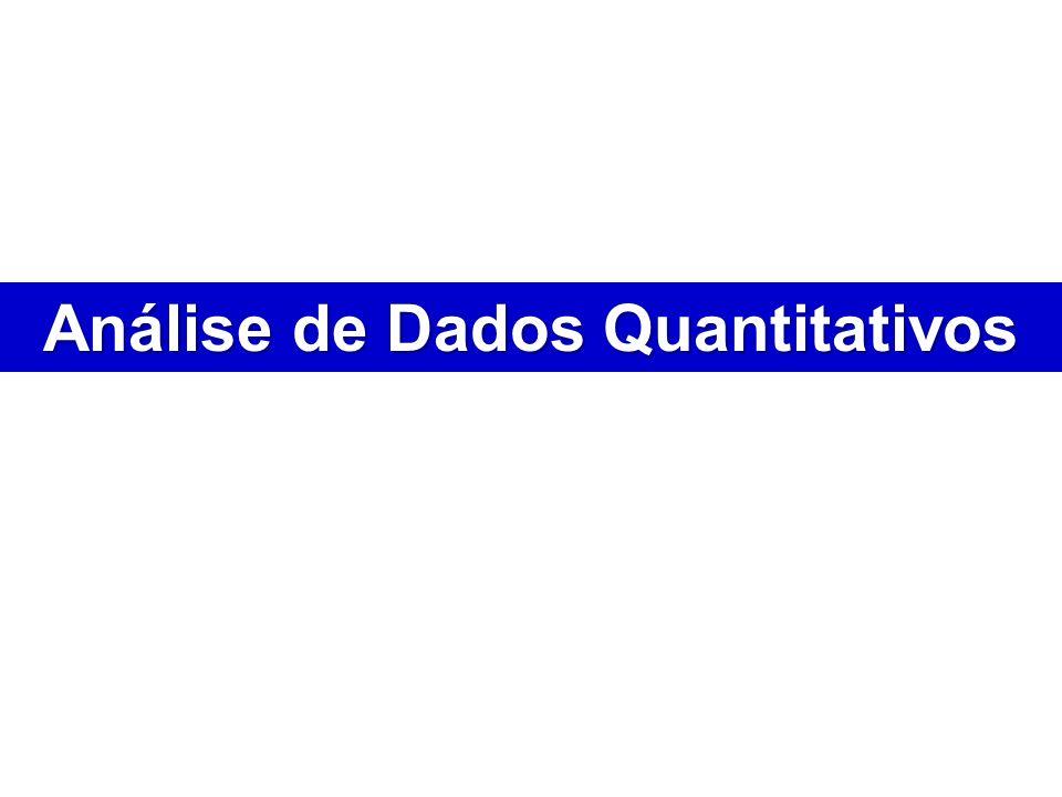 Análise de Dados Quantitativos