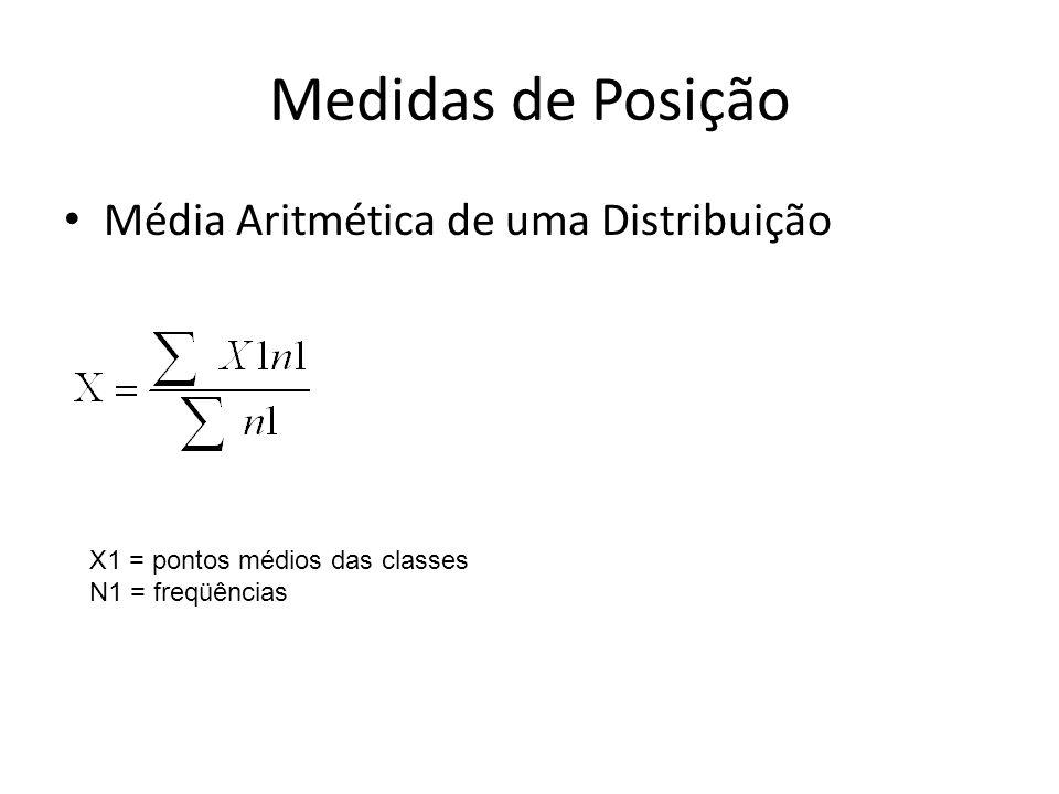 Medidas de Posição Média Aritmética de uma Distribuição
