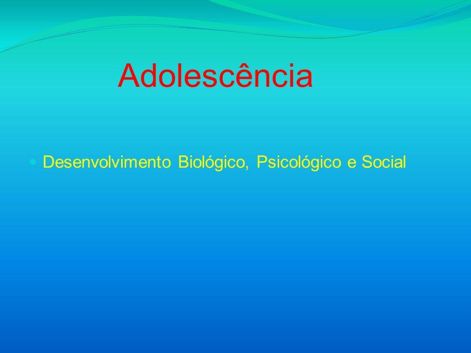 Adolescência Desenvolvimento Biológico, Psicológico e Social