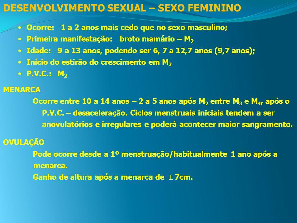 DESENVOLVIMENTO SEXUAL – SEXO FEMININO