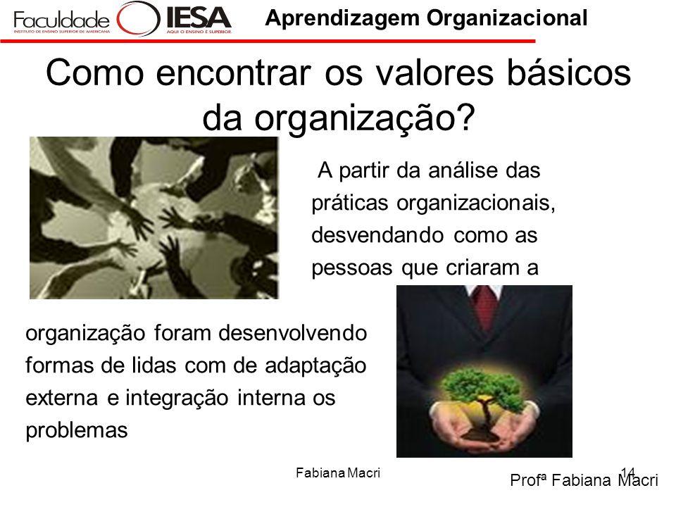 Como encontrar os valores básicos da organização