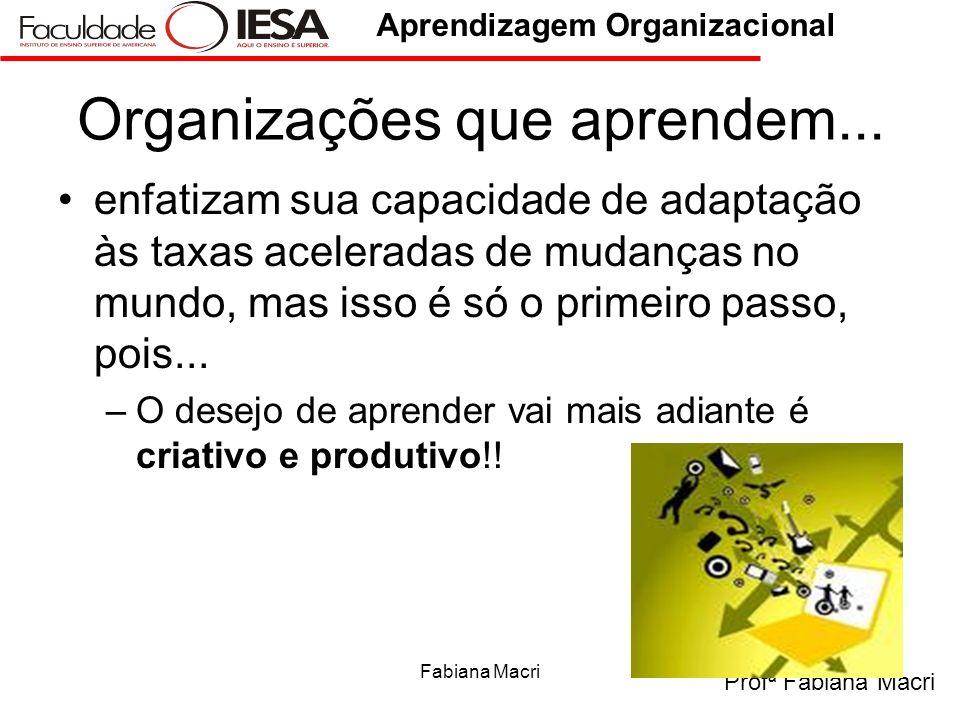 Organizações que aprendem...