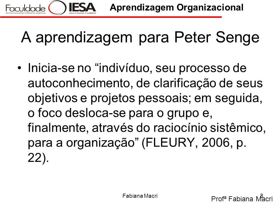 A aprendizagem para Peter Senge