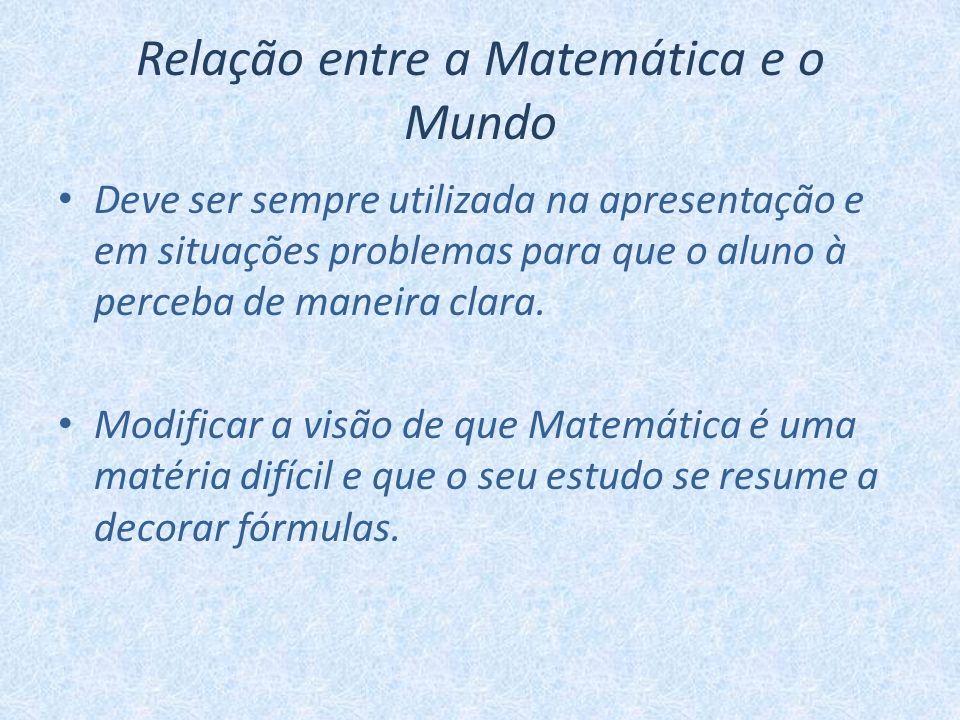 Relação entre a Matemática e o Mundo