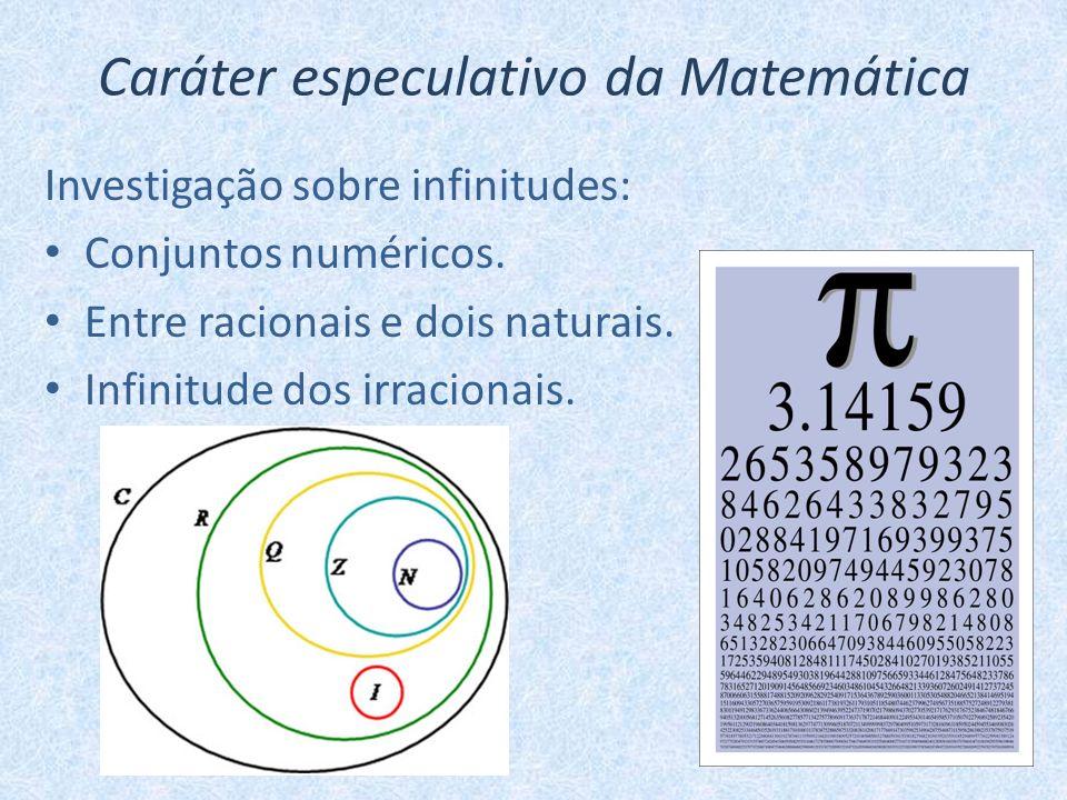 Caráter especulativo da Matemática