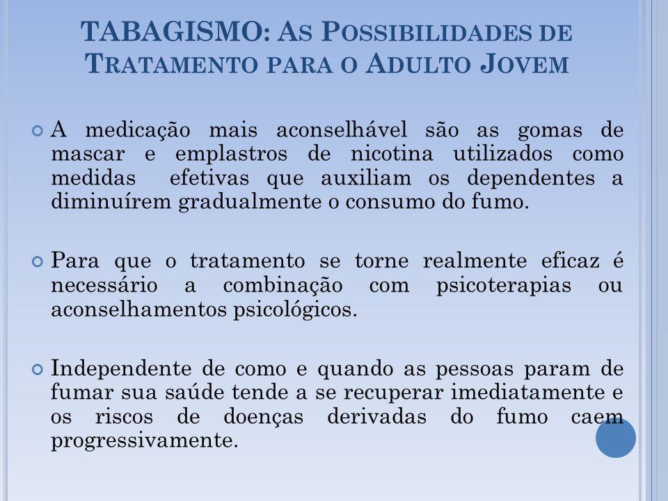 TABAGISMO: As Possibilidades de Tratamento para o Adulto Jovem