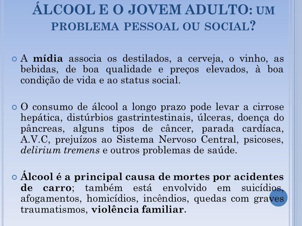 ÁLCOOL E O JOVEM ADULTO: um problema pessoal ou social