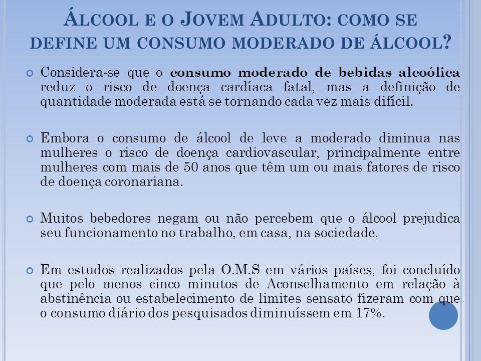 Álcool e o Jovem Adulto: como se define um consumo moderado de álcool