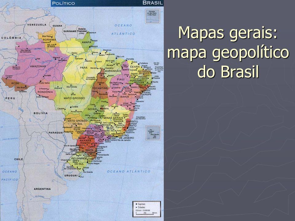 Mapas gerais: mapa geopolítico do Brasil