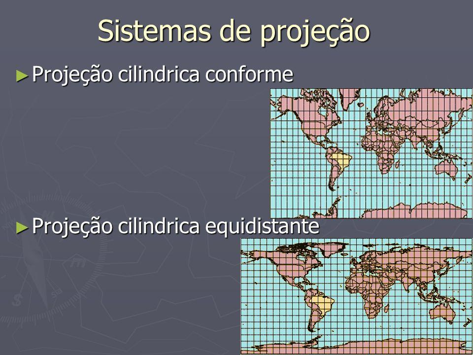 Sistemas de projeção Projeção cilindrica conforme