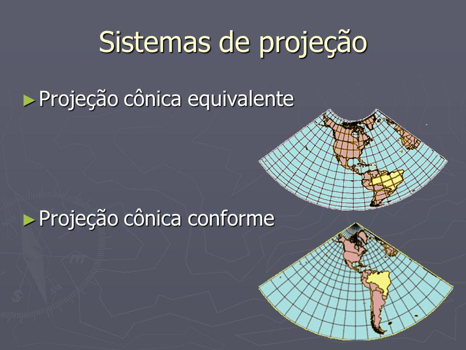 Sistemas de projeção Projeção cônica equivalente