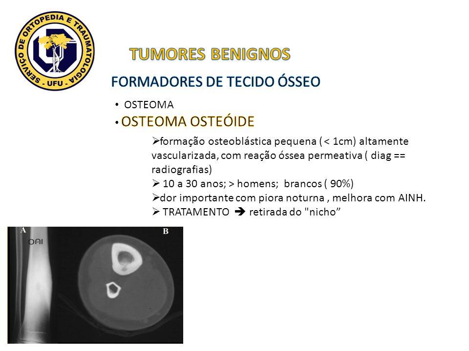 TUMORES BENIGNOS FORMADORES DE TECIDO ÓSSEO OSTEOMA OSTEOMA OSTEÓIDE