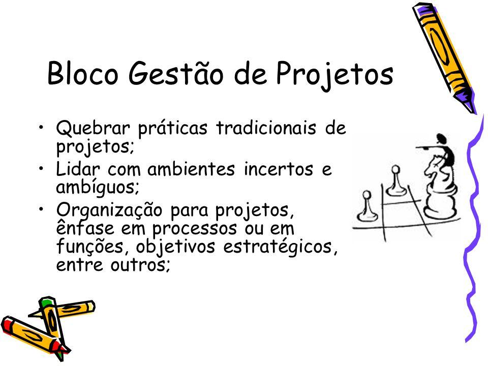 Bloco Gestão de Projetos