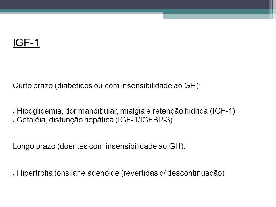 IGF-1 Curto prazo (diabéticos ou com insensibilidade ao GH):