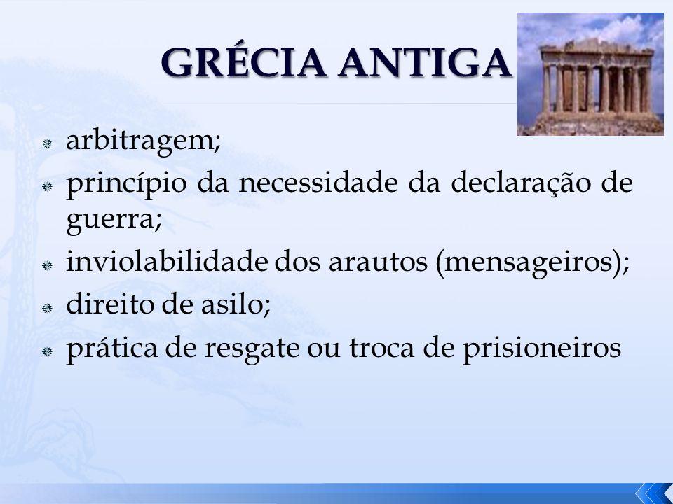 GRÉCIA ANTIGA arbitragem;