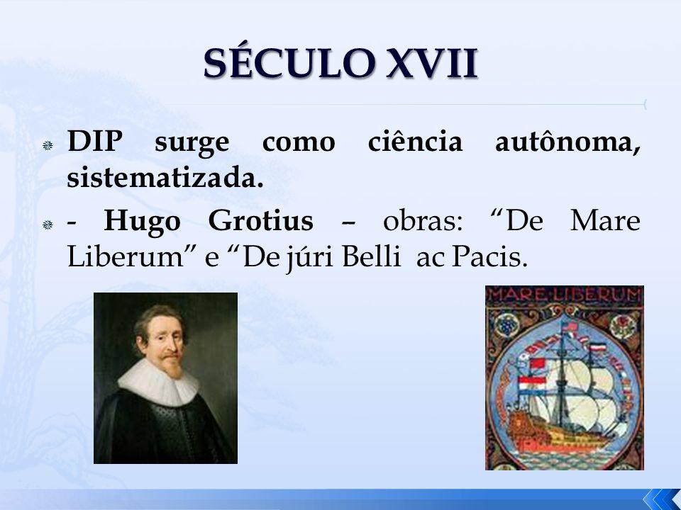 SÉCULO XVII DIP surge como ciência autônoma, sistematizada.