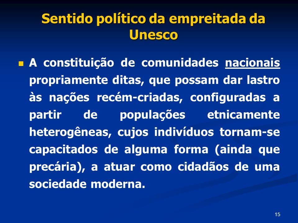 Sentido político da empreitada da Unesco