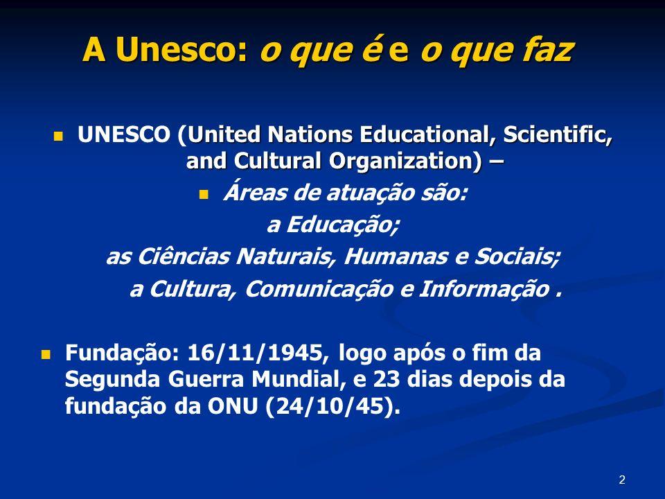 A Unesco: o que é e o que faz