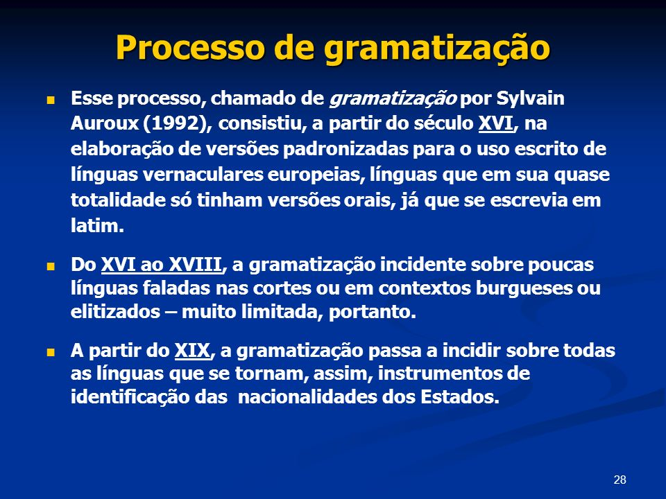 Processo de gramatização