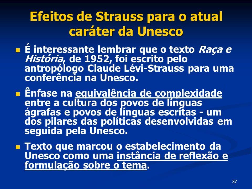 Efeitos de Strauss para o atual caráter da Unesco