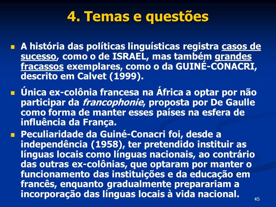 4. Temas e questões