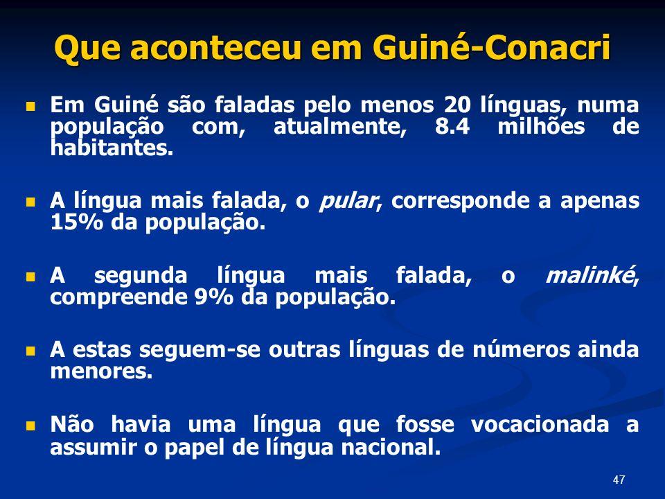 Que aconteceu em Guiné-Conacri