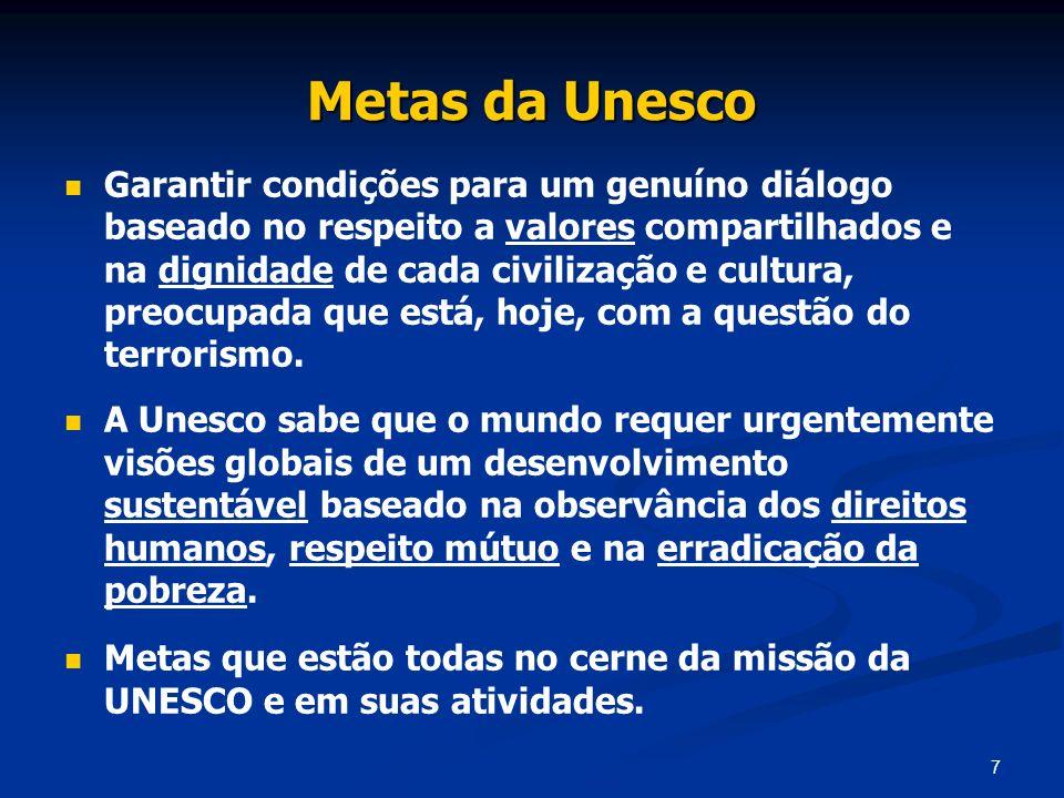 Metas da Unesco