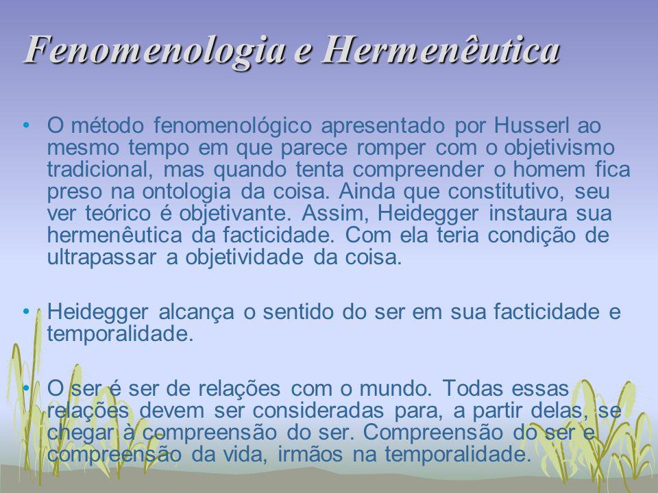 Fenomenologia e Hermenêutica