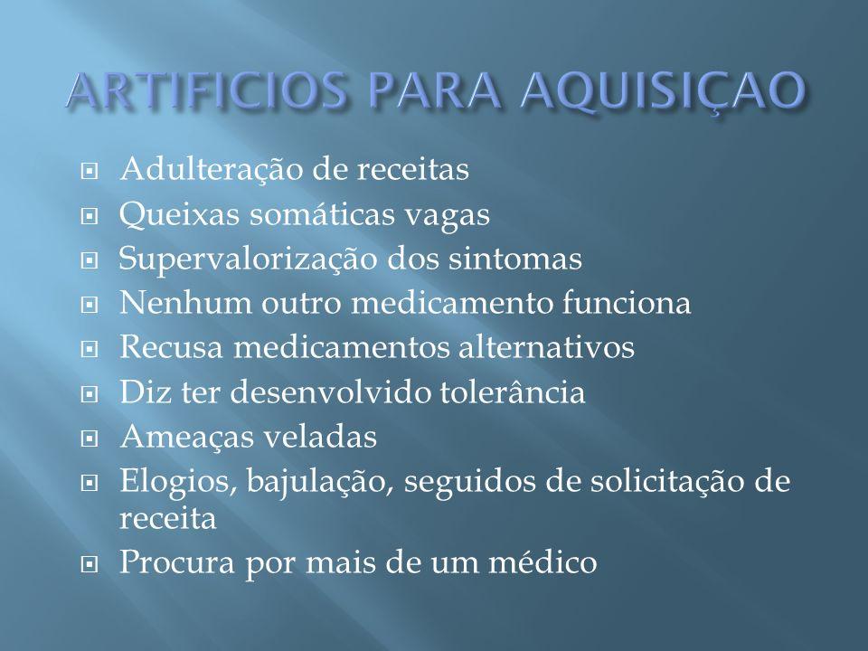 ARTIFICIOS PARA AQUISIÇAO