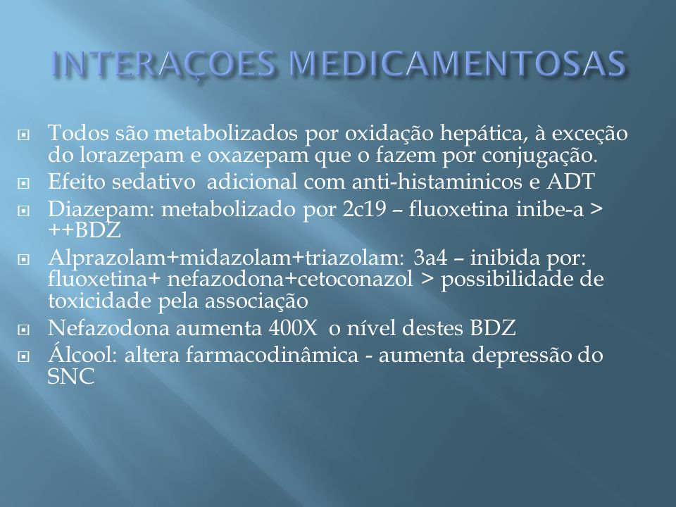 INTERAÇOES MEDICAMENTOSAS