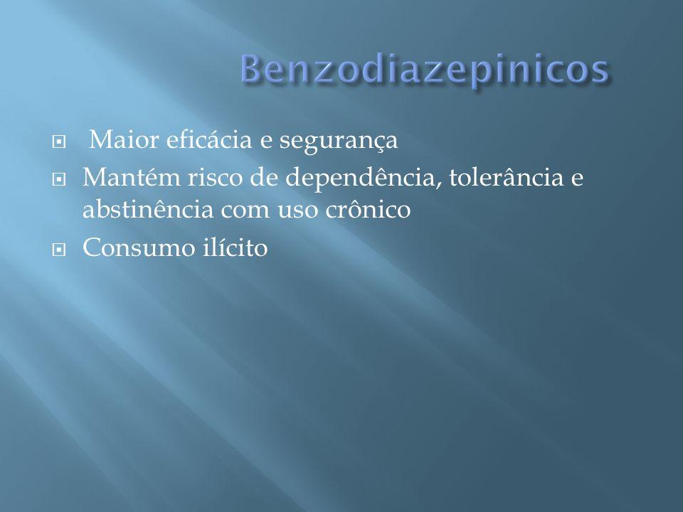 Benzodiazepinicos Maior eficácia e segurança