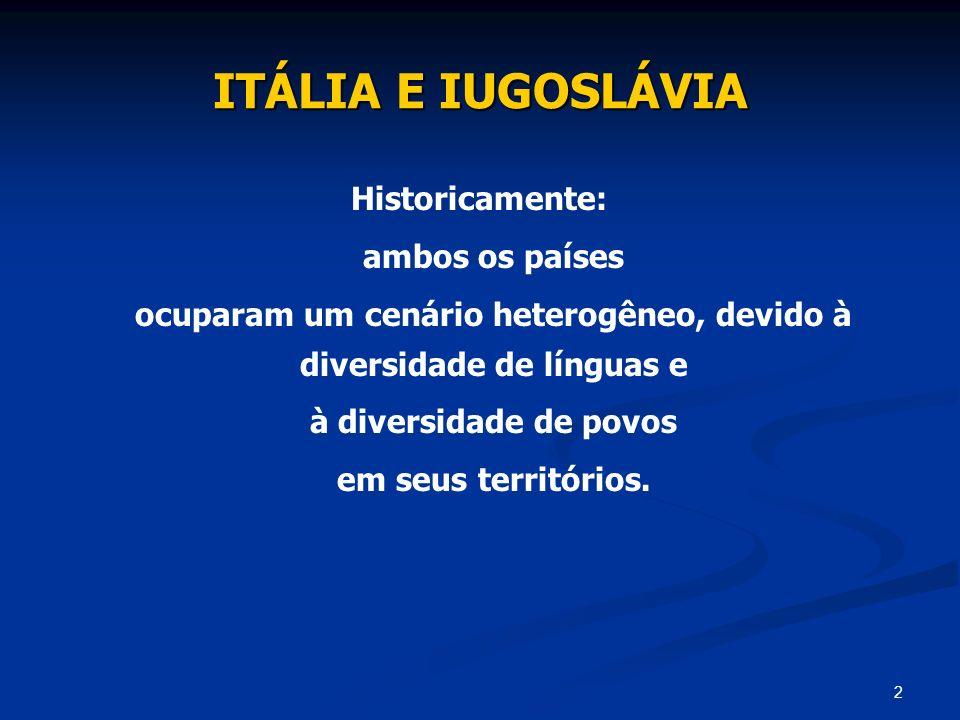 ocuparam um cenário heterogêneo, devido à diversidade de línguas e
