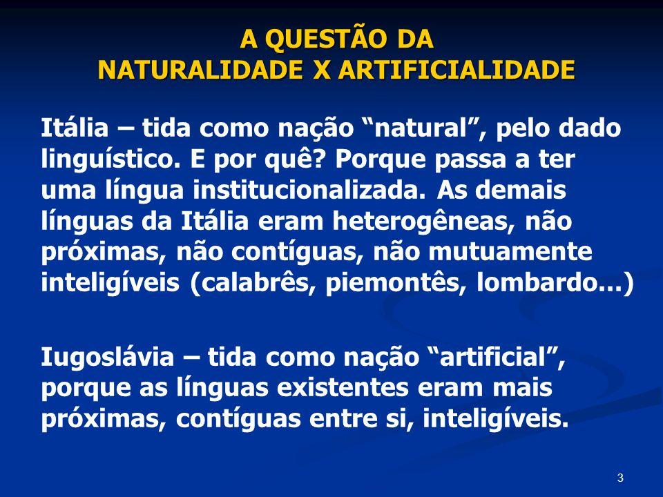 NATURALIDADE X ARTIFICIALIDADE