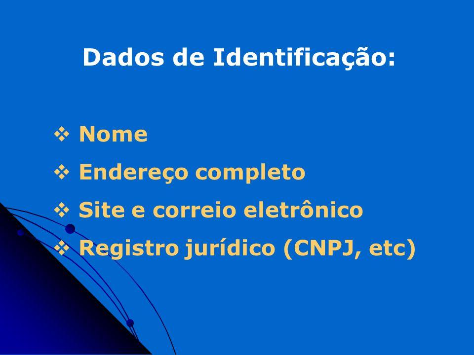 Dados de Identificação: