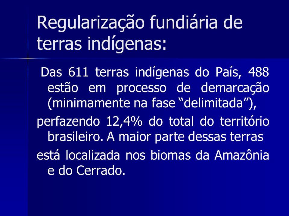 Regularização fundiária de terras indígenas: