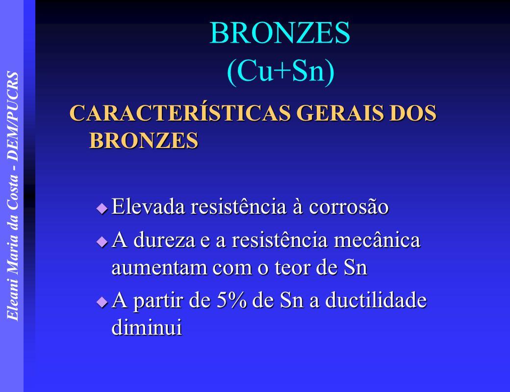 BRONZES (Cu+Sn) CARACTERÍSTICAS GERAIS DOS BRONZES