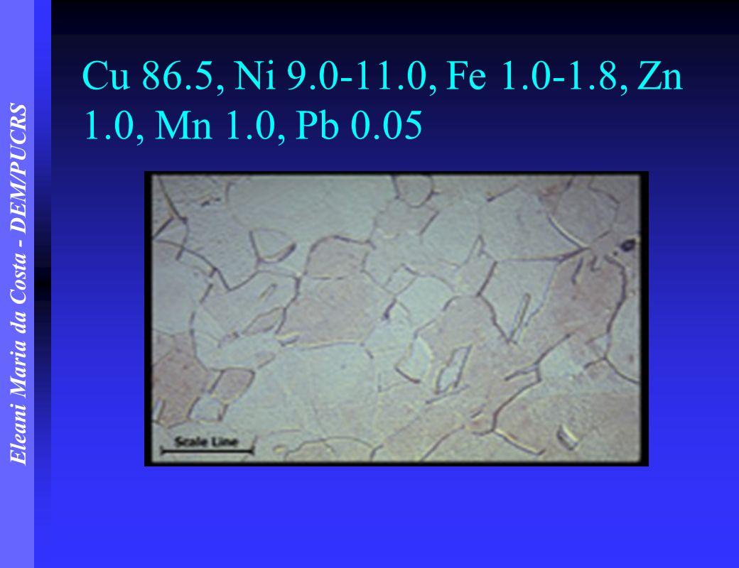 Cu 86.5, Ni 9.0-11.0, Fe 1.0-1.8, Zn 1.0, Mn 1.0, Pb 0.05