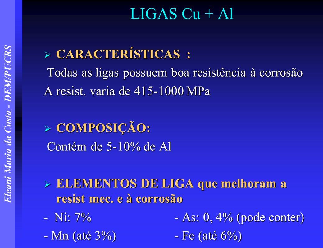 LIGAS Cu + Al CARACTERÍSTICAS :